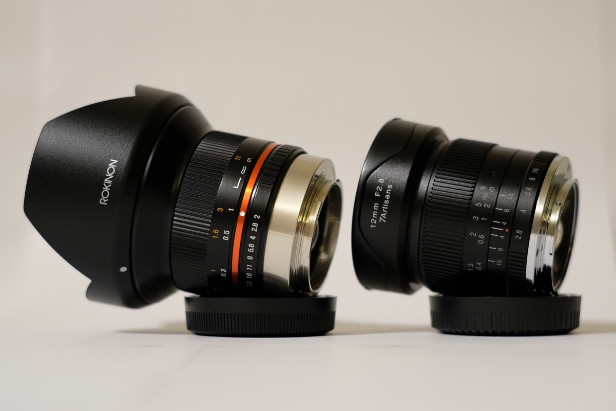 Comparison – 7artisans 12mm F2 8 vs Rokinon 12mm F2