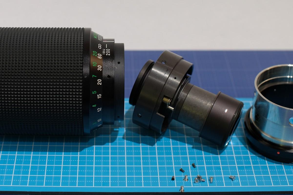 Disassembly – Vivitar 80-200mm F4 5 lens (Kino/Kiron