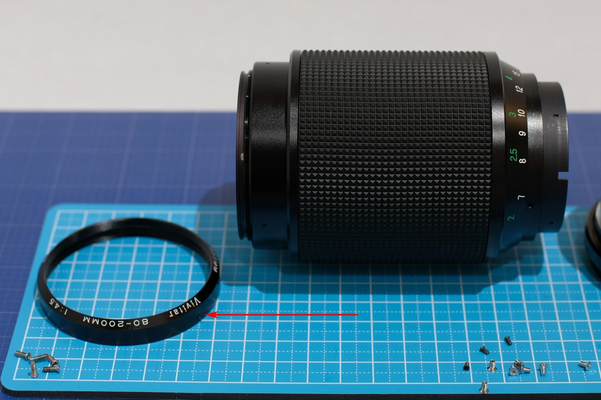Disassembly – Vivitar 80-200mm F4 5 lens (Kino/Kiron) – yukosteel's blog